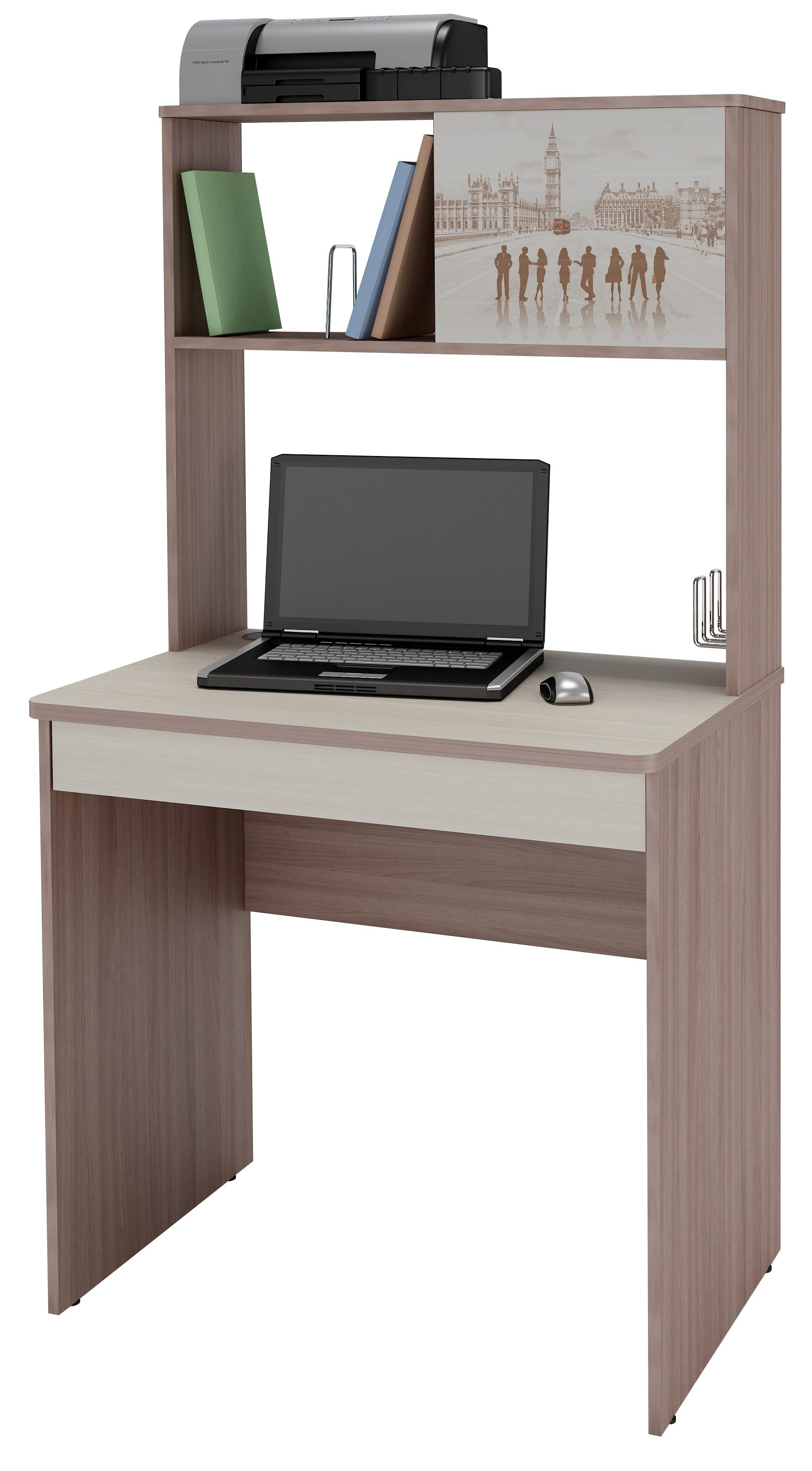 Компьютерный стол с полками орион-5.10 витра купить в москве.