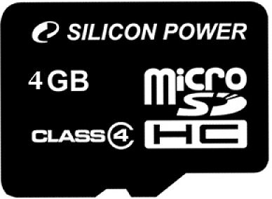 Флеш карта Silicon Power micro SDHC 4Gb class 4