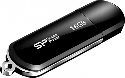 Флеш диск USB Silicon Power 16Gb Lux Mini 322 Black