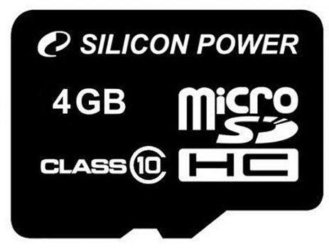 Флеш карта Silicon Power micro SDHC 4Gb class 10 без ад.