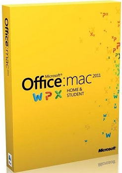 Программное обеспечение Microsoft Home and Student Mac 2011 DVD