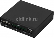 Кард-Ридер Acorp CRIP200-B USB2.0 (all-in-1, + USB port) Internal black