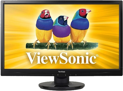 Монитор ЖК ViewSonic VA2445-LED Glossy-Black