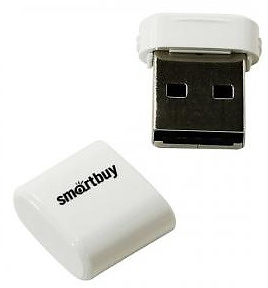 Флеш диск USB SmartBuy 32 Gb LARA White