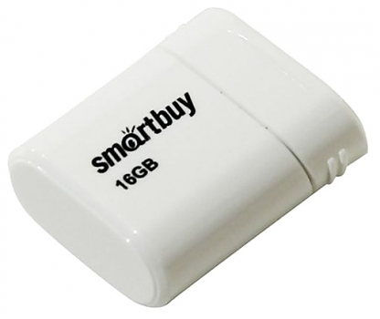 Флеш диск USB SmartBuy 16 Gb LARA White
