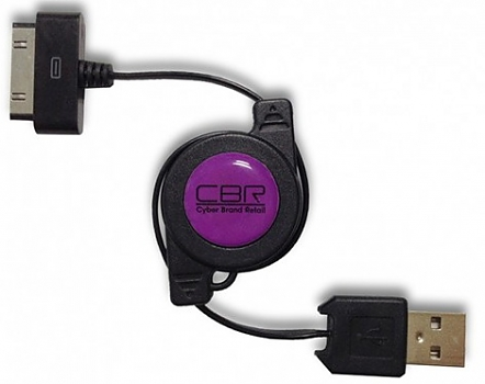 Кабель CBR 30pin-USB CB274 black, 0.72м ПУ