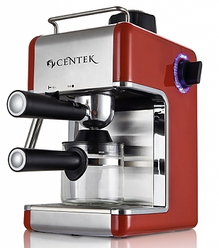 Кофеварка Centek CT-1161 red+SS Эспрессо