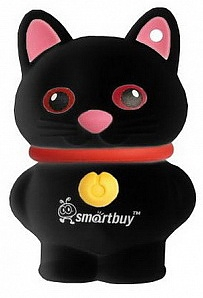 Флеш диск USB SmartBuy 16 Gb Wild series Catty Black